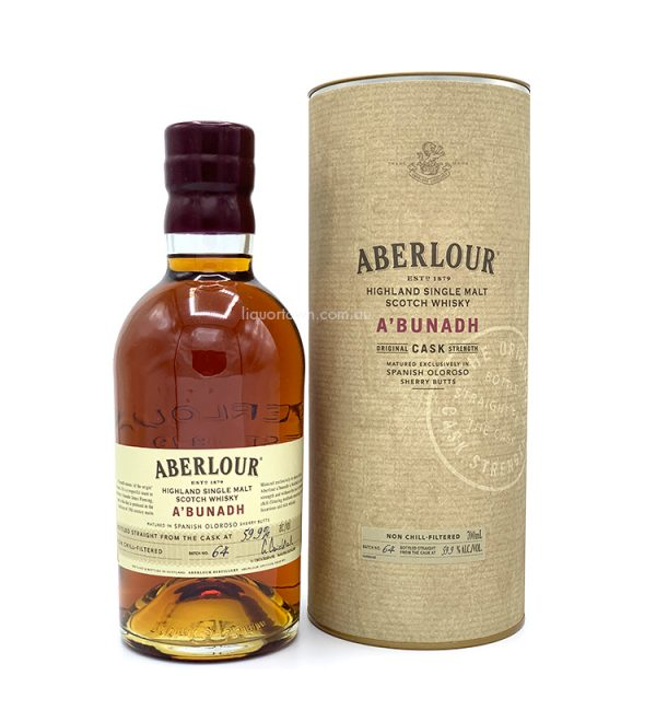 AberlourA'Bunadh Batch 64 Single Malt Scotch Whisky 700mL 59.9%