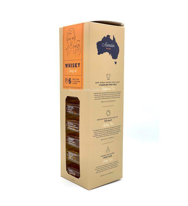 Australian Whisky Tasting Kit 6 Bottles + 1 Glass
