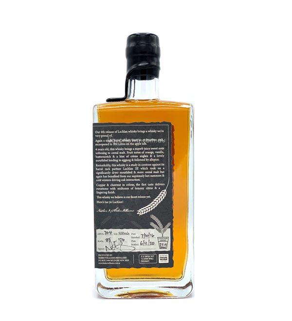 Baker Williams Lachlan IV Single Barrel Australian Single Malt Whisky 500ml 70.4%