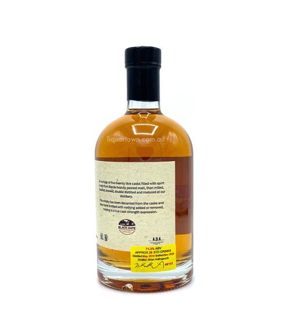 Blackgate 520's Peated Single Malt Cask Strength Whisky 500ml 71.3%