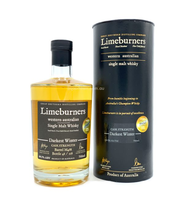 Limeburners Darkest Winter Australian Single Malt Whisky M488 700ml 69.5%