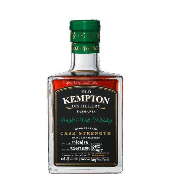 Old Kempton Pinot Cask Strength Whisky 500ML 64.9%