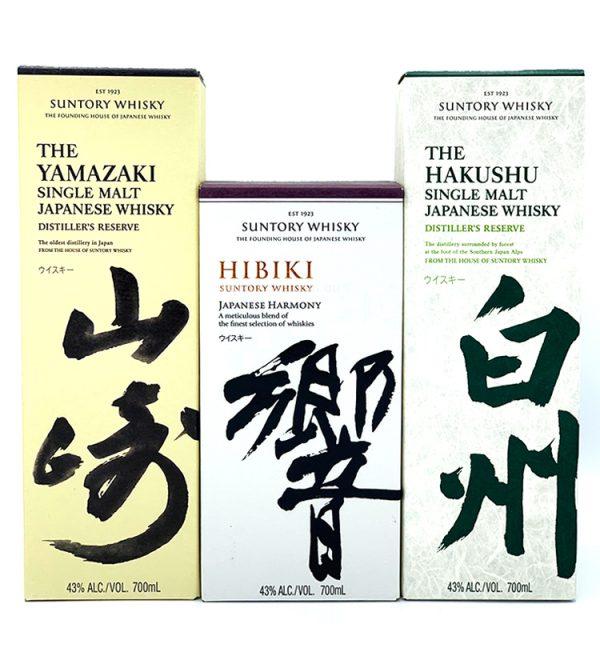 Yamazaki + Hibiki + Hakushu Single Malt Japanese Whisky