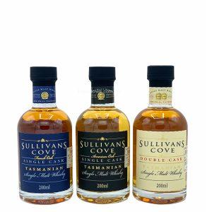 Sullivans Cove Single Malt Tasmanian Whisky Trio Pack 3 x 200ml